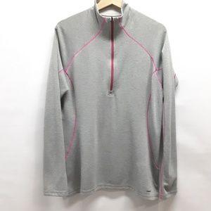 Patagonia  Grey and pink half zip Size Large